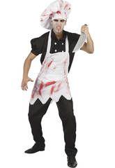 Disfraz cocinero sangriento hombre