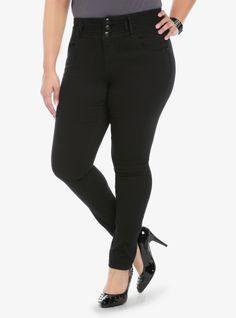 Boom Boom Jeans Super Curvy Fit Skinny Jean - Black with High Waist | Torrid