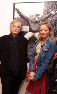 Scarlet and her dad, Jimmy Page - they have the same eyes!