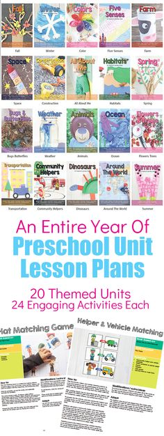 Preschool Themed Units Bundle. 20 Themed Units Each With 24 Hands On, Engaging Activities #preschool #lessonplans #preschoolthemes #preschoolunit