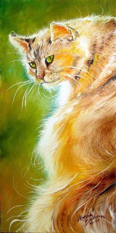 """""""Sunlit Kitty - Sweet Kitty"""" par Marcia Baldwin"""
