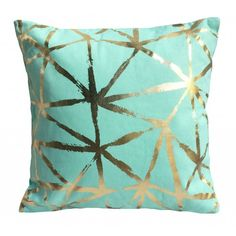 Mint & Gold Geo Cushion 45cm
