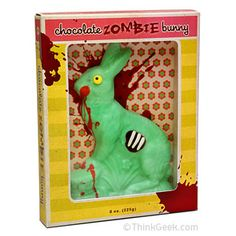 I <3 zombies. I <3 chocolate. This takes the two, puts them together, and makes me not want to eat it. ^_^