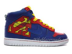 Nike Dunk High Superman Shoes Blue Red Yellow  95 Nike Dunk High 5b1809fdc
