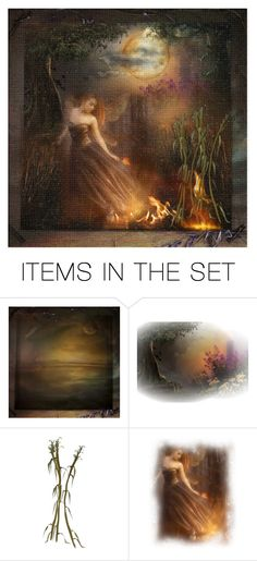 """""""On the night of the Full Corn Moon, she burns off the old so the new can grow"""" by barebear1965 ❤ liked on Polyvore featuring art"""