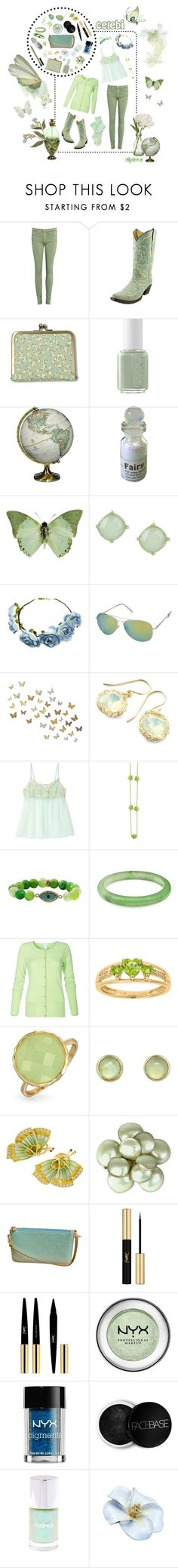 """Celebi"" by ck0427 ❤ liked on Polyvore featuring Peony, AG Adriano Goldschmied, Essie, National Geographic Home, WALL, YooLa, Bling Jewelry, Melissa Joy Manning, Louis Vuitton and Yves Saint Laurent"