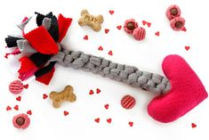 Dalmatian DIY: DIY Cupid's Arrow Valentine's Day Dog Toy