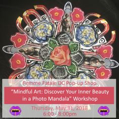 Intrigued with mandala art? Enjoying enriching your inner life? Then, join Martina Sestakova of RADOST in a fun workshop that marries these interests beautifully. We will learn about the myriad of meanings associated with mandalas that have been symbols of wholeness and harmony for centuries and across continents. To create a unique mandala of your own, you will get to use a variety of photographs to collage a vibrant expression of your innermost beauty.