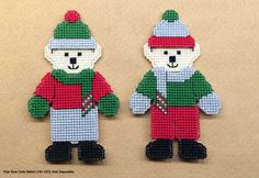 Holiday Scarf Hunibears Plastic Canvas Cross Stitch by Hunibears