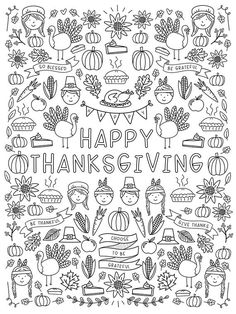 Thanksgiving Coloring Poster Pages - Thanksgiving Engineer Print