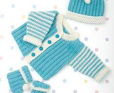 Absolutely Precious Crochet Newborn Layette Set