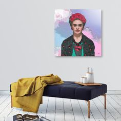 Discover «Trendy Frida Kahlo V.3 Ferwell», Exclusive Edition Aluminum Print by…