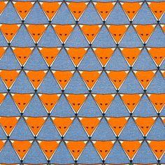 Jersey Fox Triangle 2 - Cotton - denim blue