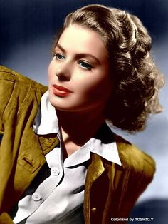 Ingrid Bergman, beautiful color photo of her