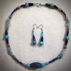 A personal favorite from my Etsy shop https://www.etsy.com/listing/261172323/blue-sky-snowflake-obsidian-set