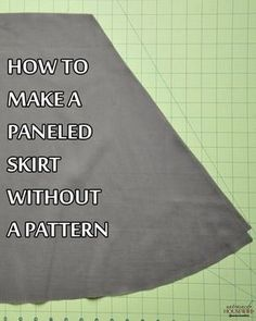How to make a paneled skirt without a panel - attach this to a t-shirt and you have a dress.