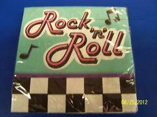 Rock N' Roll 50's Diner Retro 1950s Sock Hop Theme Party Paper Beverage Napkins