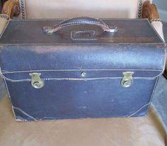 Vintage Jeppesen Jepco Leather Pilots Flight Case Bag Briefcase Model FC-1  ARMY #JeppesenCo