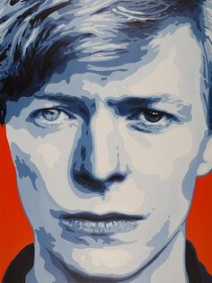 "David Bowie Painting by Artist Jeremy Penn. Painting Title: Chameleon Size: 58"" x 42"" Medium: Acrylic on Panel"