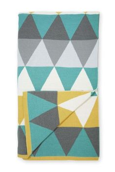Buy Teal Geo Knit Throw from the Next UK online shop