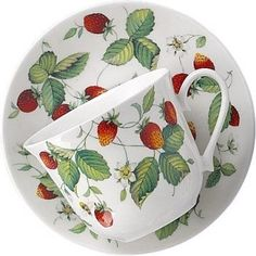 Amazon.com: Alpine Strawberry Large Breakfast Cup & Saucer - Roy Kirkham: Home & Kitchen
