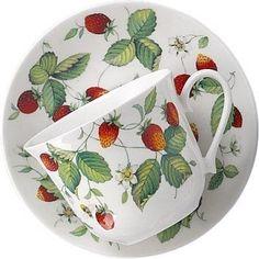 Amazon.com: Alpine Strawberry Large Breakfast Cup & Saucer - Roy Kirkham: Home & Kitchen