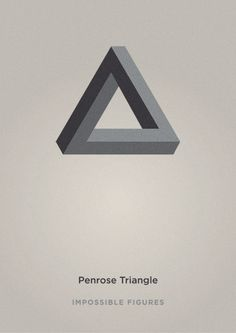 "Penrose triangle is known as an impossible object. It was created by Swedish artist Oscar Reutersvärd in 1934. The mathematician Roger Penrose independently devised and popularised it in the 1950s, describing it as ""impossibility in its purest form""."