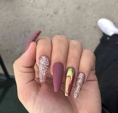 Top 56 acrylic nail designs 2019 for woman 1 - Nail Art Acrylic Nails Natural, Summer Acrylic Nails, Best Acrylic Nails, Cute Acrylic Nail Designs, Fancy Nails, Pink Nails, Glitter Nails, My Nails, Gorgeous Nails
