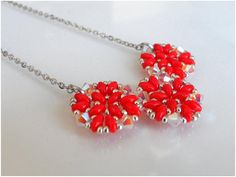 Red necklace for christmas Christmas gift idea Christmas