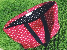 Red Horsy Beach Tote
