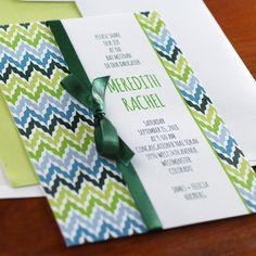 Wavelength Bat Mitzvah Invitation by Checkerboard Ltd