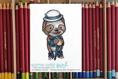 She's a Color Queen! #SomeOddGirl #spectrumnoir #sloth #dapper #colorpencil
