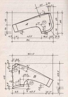 МОДЕЛИ ЖЕНСКИХ ЖАКЕТОВ С ЧЕРТЕЖАМИ ВЫКРОЕК Модель № 3 размеры168-44 длина по спинке 45см
