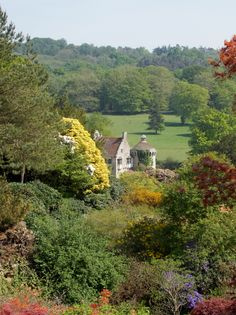 Scotney Castle through the gardens, Kent, England, By B Lowe