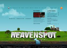 Heavenspot. Los Angeles Advertising Agency. Serious Flash site.