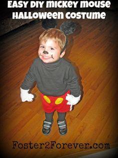 DIY Homemade Disney Mickey/Minnie Mouse Halloween Costume