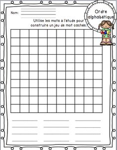FRENCH word work study kit/ Trousse d'étude des mots de la semaine First Day Of School Activities, Word Work Activities, Spanish Language Learning, Teaching Spanish, Language Arts, Teaching French Immersion, French Teaching Resources, Teaching Ideas, High School French