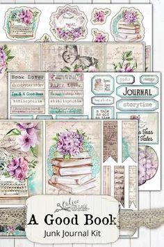 For the Love of Orchids Botanical inspired Digital Junk Journalling Kit