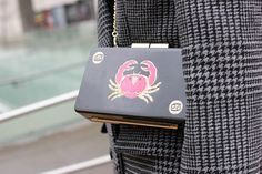 Urania Gazelli Cancer clutch. Photo: Emil Lendof/Fashionista