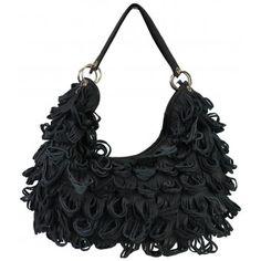 Fashionable tas gemaakt van stukjes leder!