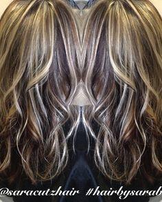 Dark Brown Hair With Bleach Blonde Highlights Cabello
