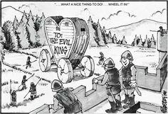 """What a nice thing to do! Wheel it in!"" (Joseph Pillsbury, Dragon magazine No. 94, TSR, February 1985.)"