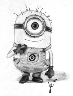drawings of minions | Minion - Freehand Drawing by ZackBag on deviantART