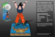 Dragon Ball Z - Son Goku Spirit Bomb Genki Dama Figure Papercraft Free Download
