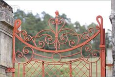 old red wrought iron