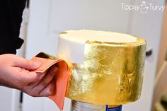 How to apply gold leaf to fondant cake-tutorial by cake designer Ashlee Marie