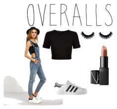 """""""Overalls"""" by anyasbear ❤ liked on Polyvore featuring Ted Baker, NARS Cosmetics, adidas, TrickyTrend and overalls"""