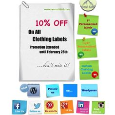 10% off on all clothing labels
