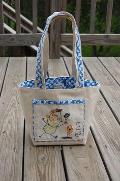 DIY Tutorial + free pattern/template (JPEG) Tote Handbag Long Handled