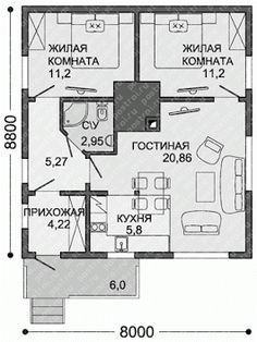 Rustic House Plans, House Layout Plans, House Layouts, Affordable House Plans, Shed To Tiny House, Simple House Design, House Plants Decor, Arch Interior, Bedroom House Plans